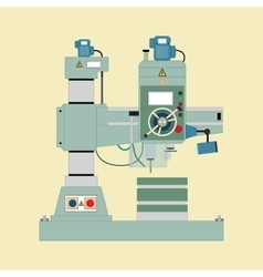 Boring mill vector image vector image