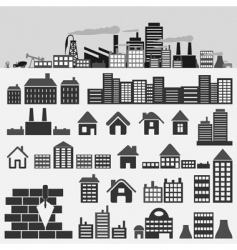 house icons4 vector image vector image