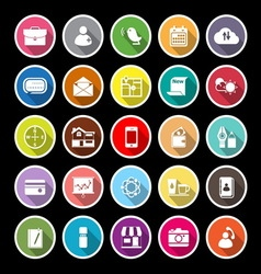 Mobile flat icons with long shadow vector image vector image