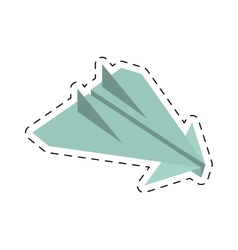 paper plane origami arming fly cut line vector image