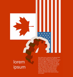 Politic relationship between usa and canada vector