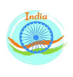 15 august indian independence day greeting poster vector image