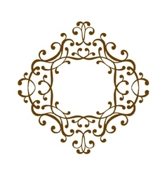 Luxury monogram template vector image
