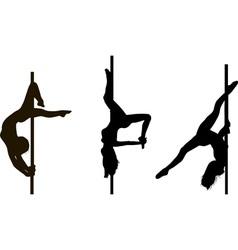 pole dancing girls in vector image