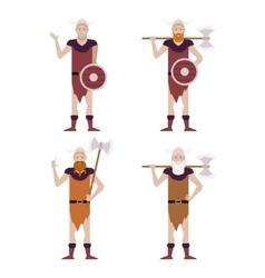 Set of Barbarians vector image vector image