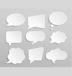 white blank retro speech bubbles isolated vector image