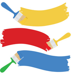 Brushes and paint vector
