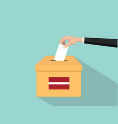 latvia vote election concept with vector image vector image