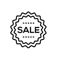 sale - line design single isolated icon vector image