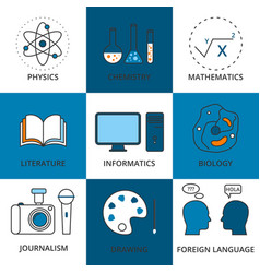 Stock linear icon school lessons vector