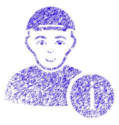 user info icon grunge watermark vector image