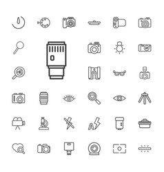 33 lens icons vector
