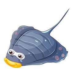 A flat fish vector image