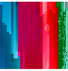 abstract glitched background vector image