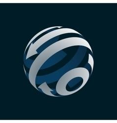 Abstract Globe Logo Element vector
