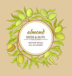 almond frame vector image