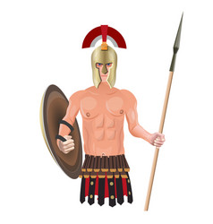 ancient warrior with spear vector image