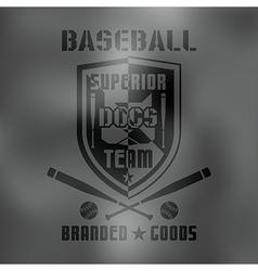Baseball sport emblem Dark vector image