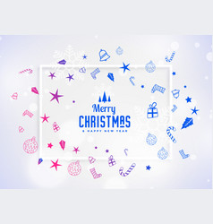 beautiful christmas decoration festival elements vector image