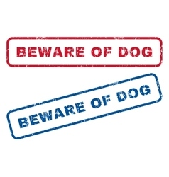 Beware Of Dog Rubber Stamps vector
