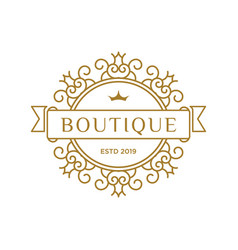 boutique luxury logo design inspiration in gold vector image