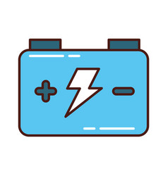 Car battery isolated icon vector