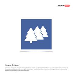 christmas tree icon - blue photo frame vector image