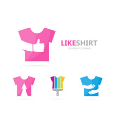 Cloth and like logo combination shirt vector