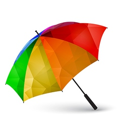 Colored umbrella made of polygonal effect vector