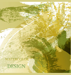 colorful abstract watercolor texture stain with vector image
