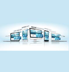 cyber monday online sale web design concept vector image