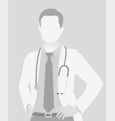 Default placeholder doctor half-length portrait vector