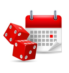 Dice and calendar vector