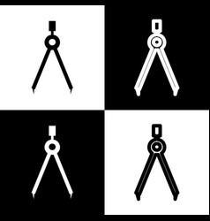divider simple sign black and white icons vector image