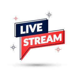 duo color live stream speechbubble vector image