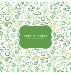 Ecology symbols frame seamless pattern background vector