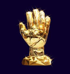 golden glove vector image