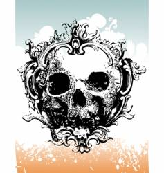 grunge skull illustration vector image