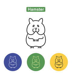 hamster line icon vector image
