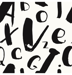 hand-drawn alphabet brush vector image