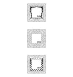 Hand Drawn Doodle Border Frames vector image