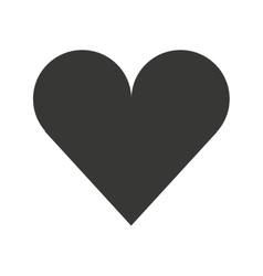 heart love isolated flat icon vector image