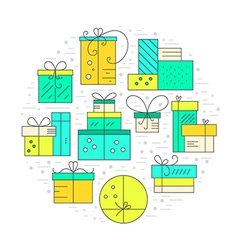 Holiday Gifts Concept vector