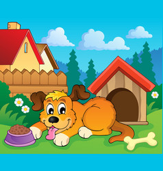 Image with dog theme 6 vector