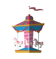 Isolated carousel design vector