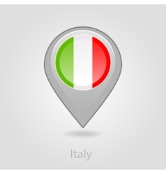 Italy flag pin map icon vector image
