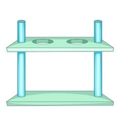 Laboratory support icon cartoon style vector
