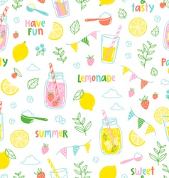 Lemonade party pattern vector