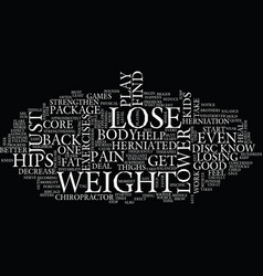 Lose weight on hips its a package deal text vector