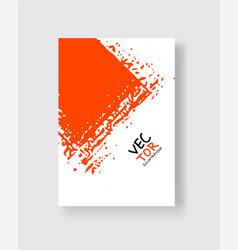 Lush lava ink brush stroke on white background vector